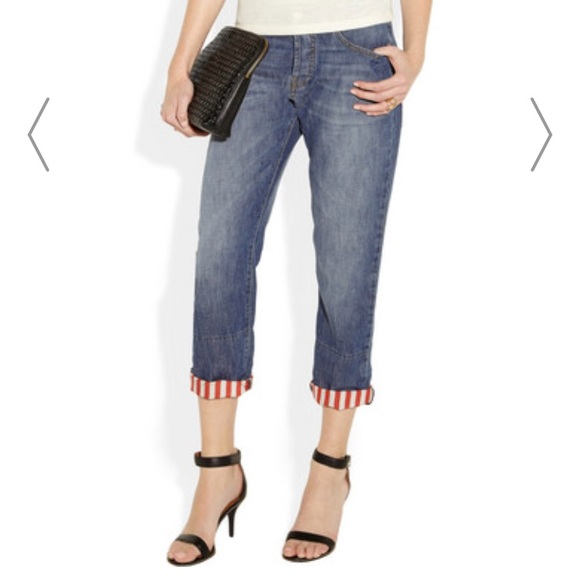Striped Poshmark Marni 28 Cuff Jeans Boyfriend Fit 5wxPTHO